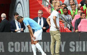 Leroy Sane i Pep Guardiola (Foto: Nigel French/Press Association/PIXSELL)