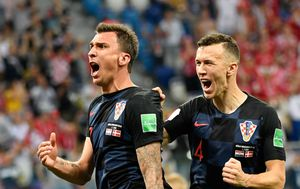Mario Mandžukić i Ivan Perišić (Foto: AFP)