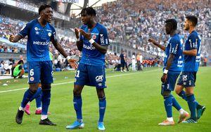 Slavlje igrača Reimsa (Foto: AFP)