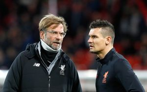 Jurgen Klopp i Dejan Lovren (Foto: Martin Rickett/Press Association/PIXSELL)