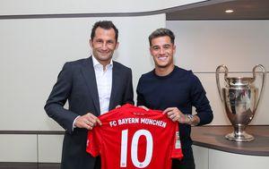 Hasan Salihamidžić i Philippe Coutinho (Foto: FCB/DPA/PIXSELL)