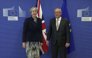 May stigla na razgovor s Junckerom (Foto: dnevnik.hr)