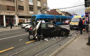 Prometna nesreća u Zagrebu (Foto: Jurica Kolarić)