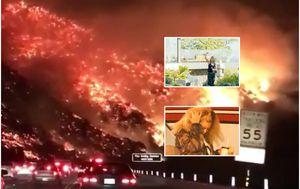 Celebrityji evakuirani zbog požara (Foto: Profimedia/Instagram)