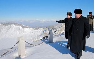 Kim Jong Un na Mount Paektu (Foto: AFP)
