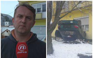 Auto se zabio u kuću (Foto: Dnevnik.hr)