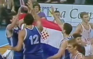 Hrvatska zastava 1990. na SP-u u Argentini (Screenshot)