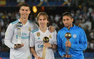 Cristiano Ronaldo i Luka Modrić (Foto: AFP)