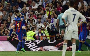 Lionel Messi, Ivan Rakitić i Cristiano Ronaldo (Foto: AFP)