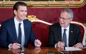Sebastian Kurz, austrijski kancelar i Alexander Van der Bellen, predsjednik Austrije (Foto: AFP)