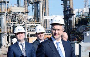 Andrej Plenković u rafineriji Sisak (Foto: Pixell)