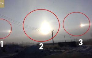 Trostruko Sunce na nebu (Foto: Screenhot Twitter/CGTN)