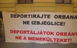 Transparent prosvjednika ispred summita Srednjoeuropske inicijative u Zagrebu (Foto: Dnevnik.hr) - 3