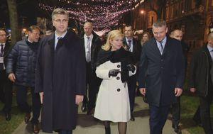 Šetnja nakon summita Srednjoeuropske inicijative u Zagrebu (Foto: Dnevnik.hr)