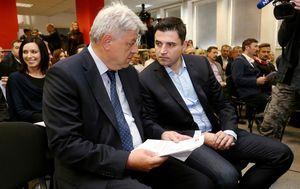 Zlatko Komadina i Davor Bernardić (Foto: Dalibor Urukalovic/PIXSELL)