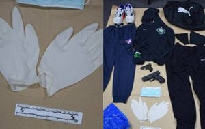 Odjeća kojom se kradljivac služio u pljačkama (Foto: PUZ)