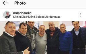 Milan Bandić u Klinici za plućne bolesti (Foot: Instagram)
