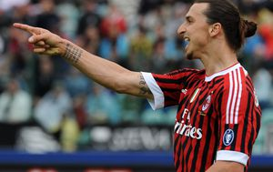 Ibrahimović u dresu Milana (Foto: AFP)