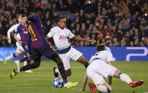 Dembele zabija Tottenhamu (Foto: AFP)