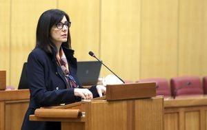 Ministrica Blaženka Divjak o Zakonu o udžbenicima (Foto: Patrik Macek/PIXSELL)