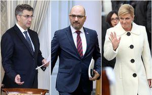 Premijer Plenković, Milijan Brkić i predsjednica Grabar-Kitarović (Foto: Arhiva/Patrik Macek/Davor Puklavec/PIXSELL)