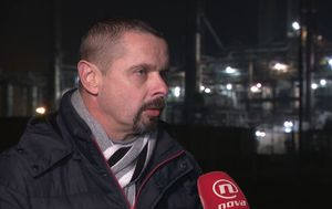Koordinator stožera za obranu rafinerije Sisak Predrag Sekulić o odluci Uprave za sisačku rafineriju (Foto: Dnevnik.hr) - 4