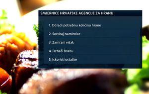 Smjernice Hrvatske agencije za hranu (Foto: Dnevnik.hr)
