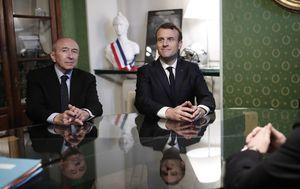 Francuski ministar unutarnjih poslova Gerard Collomb i francuski predsjednik Emmanuel Marcon (Foto: AFP)