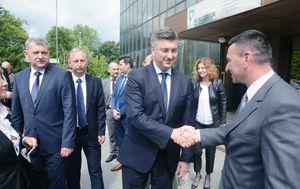 Andrej Plenković u Petrokemiji (Foto: Pixell)