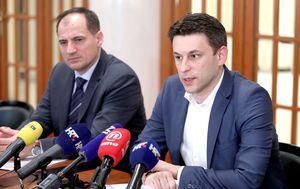 Božo Petrov i Slaven Dobrović (Foto: Patrik Macek/Pixsell)
