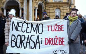Prosvjed (Foto: Luka Stanzl/PIXSELL)