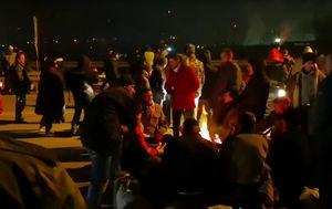 Prosvjed bivših pripadnika Armije BiH i HVo-a u BiH (Screenshot: Klix.ba/YouTube)