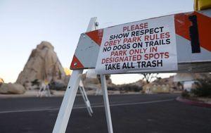 Neki nacionalni parkovi u SAD-u su zatvoreni zbog premalo osoblja koje ne radi zbog blokade. Nacionalni park Joshua Tree u Kaliforniji (Foto: AFP) - 2