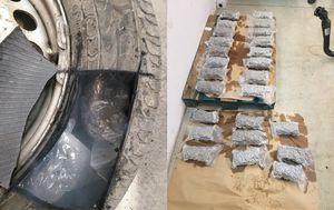Paketi s drogom bili su skriveni u kotačima kombija (Foto: PU vukovarsko-srijemska)