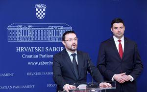 Arsen Bauk i Davor Bernardić (Foto: Patrik macek/Pixsell)