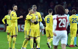 BATE Borisov slavi pogodak protiv Arsenala (Foto: AFP)