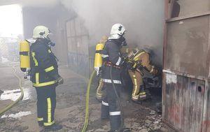 Požar u limarskoj radionici (Foto: Damir Nemec)