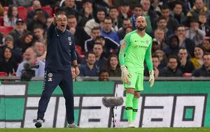 Maurizio Sarri i Willy Caballero (Foto: John Walton/Press Association/PIXSELL)