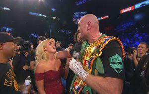 Tyson Fury sa suprugom u ringu