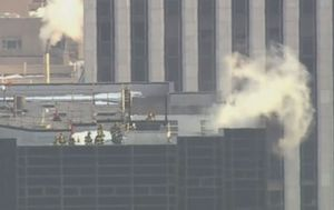 Požar u Trumpovu neboderu (Screenshot: APTN)