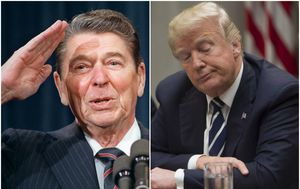 Ronald Reagan i Donald Trump (Foto: AFP)