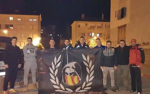 Crnogorski navijači u Zagrebu