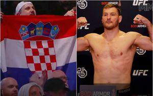 Hrvatske zastave na vaganju i podrška za Miočića (Screenshot)