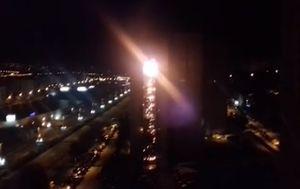 Požar nebodera u Splitu (Foto: screenshot/DNEVNIK.hr)