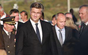 Andrej Plenković i Damir Krstičević (Foto: Miranda Cikotic/PIXSELL)