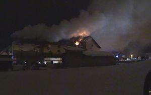 Požar na hotelu u Otočcu (Dnevnik.hr)
