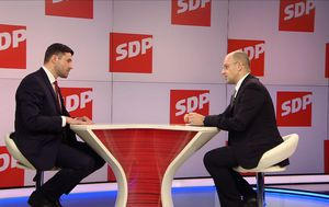 Gost Dnevnika Nove TV predsjednik SDP-a Davor Bernardić (Foto: Dnevnik.hr) - 3