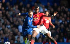 Eden Hazard i Paul Pogba (Foto: Mark Pain/Press Association/PIXSELL)