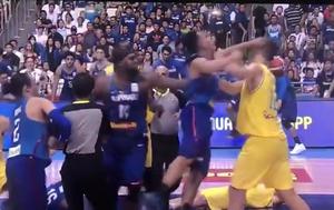 Tučnjava na utakmici Filipini - Australija (Screenshot: YouTube)