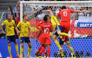 Maguire zabija Švedskoj (Foto: AFP)